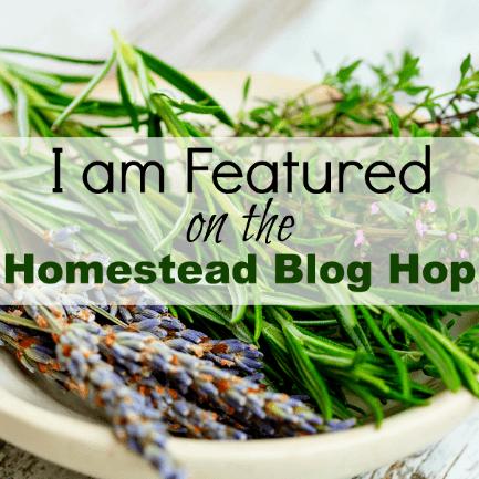 Blog post featured on Homestead Blog Hop