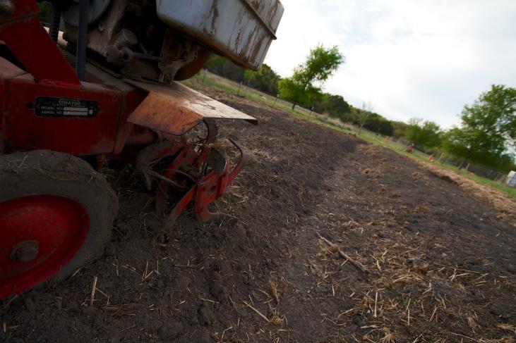 Tilling Garden Soil