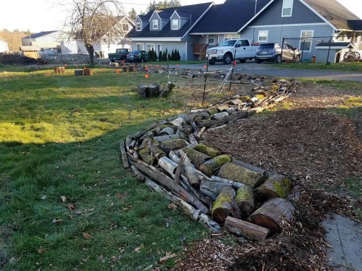 build a hugelkultur bed by adding large wood