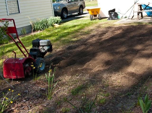 Preparing land for planting a vegetable garden