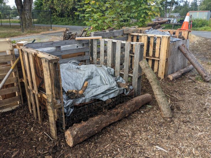 Multiple bins make it easier to make more compost